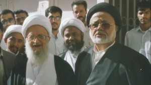 The late Mawlana Sayyid Shamim Al-Sibtain Rizvi (right) with Ayatollah Makarem Shirazi (left)